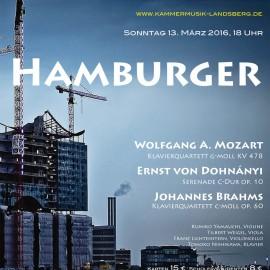 13. März – HAMBURGER – LEIDER AUSVERKAUFT