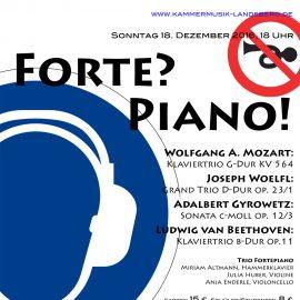 Nächstes Konzert: FORTE? PIANO! 18. Dezember, 18 Uhr
