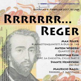 Nächstes Konzert: Rrrrrrr… Reger am 5. Februar 2017