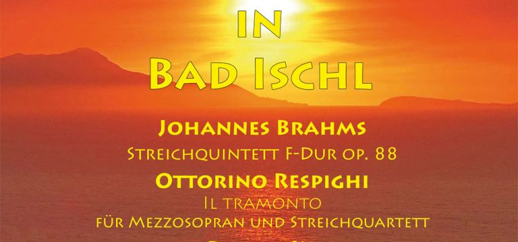 "18. November ""Sonnenuntergang in Bad Ischl"": leider AUSVERKAUFT"
