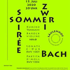 Neue Termine für die Sommer-Soiréen Zwei und Drei: Mittwoch 15. Juli und Freitag 24. Juli