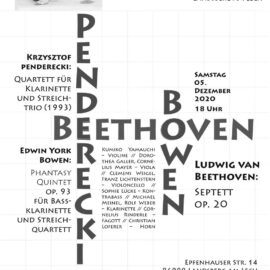 Konzert am Samstag den 5. Dezember: ABGESAGT