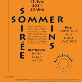Sommer-Soirée Eins: Samstag 19. Juni 2021, 20 Uhr