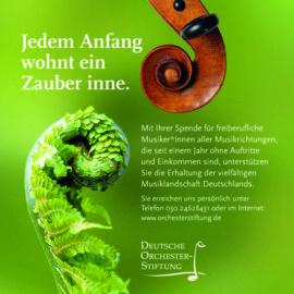 Spende an den Nothilfefonds der Deutschen Orchesterstiftung